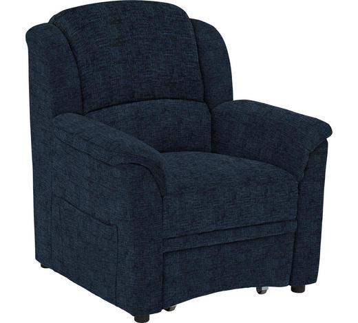 SESSEL in Textil Blau  - Blau/Schwarz, KONVENTIONELL, Kunststoff/Textil (94/98/89cm) - Beldomo Comfort