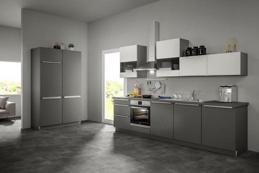 Eckküche ohne E-Geräte 120+300 cm - Weiß/Grau, Design (120+300cm) - Set one by Musterrin