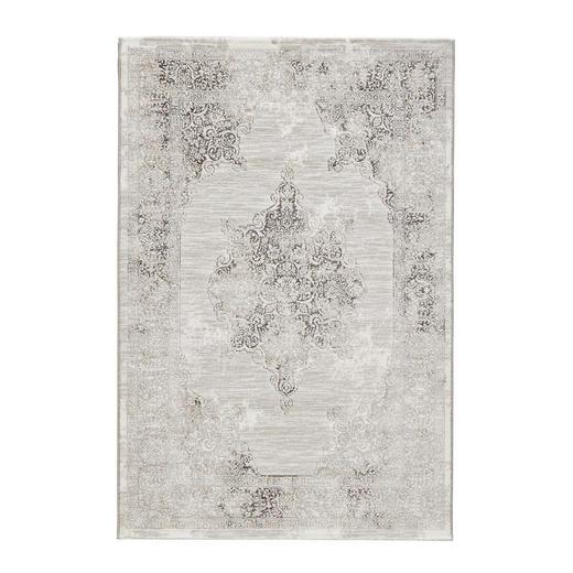WEBTEPPICH  135/200 cm  Beige, Schwarz, Weiß - Beige/Schwarz, Basics, Textil (135/200cm)