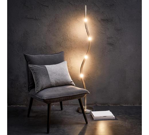 LED-STEHLEUCHTE   - Nickelfarben, MODERN, Metall (150/22,5/22,5cm)