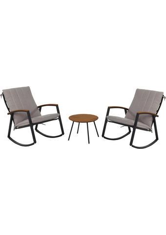 SADA NA BALKON - antracitová/šedohnědá, Basics, kov/textilie (63/86/101,5cm) - Ambia Garden