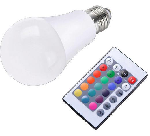 LED-Leuchtmittel E27 - Weiß, Basics, Kunststoff (6/10cm)