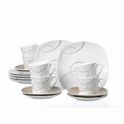 KAFFESERVIS - vit/mörkbrun, Klassisk, keramik (26/21/22cm) - RITZENHOFF BREKER