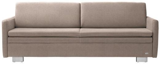 SCHLAFSOFA in Textil Schlammfarben, Beige - Schlammfarben/Beige, KONVENTIONELL, Textil/Metall (216/84/92cm) - Sedda
