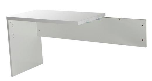 ANBAUSCHREIBTISCH Weiß - Weiß, Design, Holzwerkstoff (100/72/60cm) - Carryhome