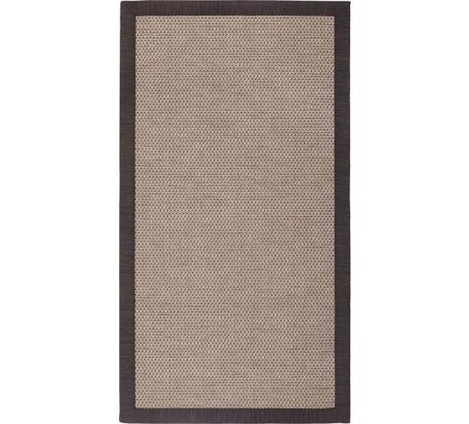 FLACHWEBETEPPICH - Anthrazit, KONVENTIONELL, Textil (80/200cm) - Linea Natura