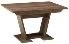 ESSTISCH in Holzwerkstoff 130/90/76 cm - Edelstahlfarben/Eichefarben, KONVENTIONELL, Holzwerkstoff (130/90/76cm) - Venda