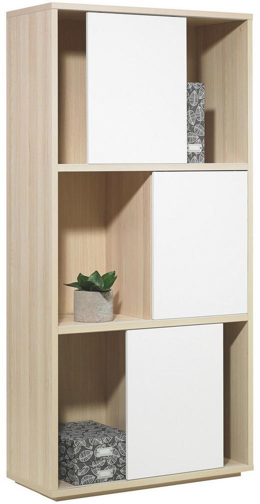 REGAL Eschefarben, Weiß - Eschefarben/Weiß, Design, Holzwerkstoff (90/185,5/40cm) - Carryhome