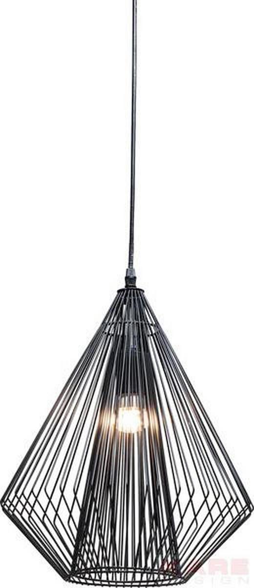 HÄNGELEUCHTE - Schwarz, Design, Metall (32/43/32cm) - Kare-Design