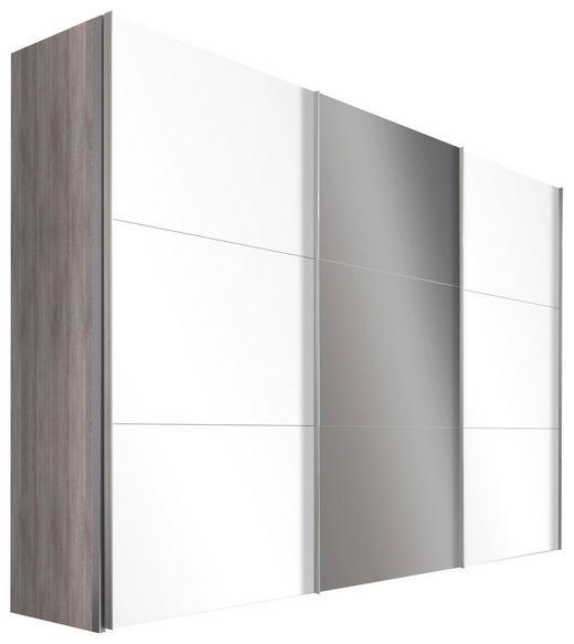 SCHWEBETÜRENSCHRANK in Silbereichenfarben - Alufarben/Silbereichenfarben, Design, Glas/Holzwerkstoff (300/236/68cm) - Hom`in