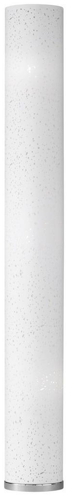 STEHLEUCHTE - Chromfarben/Weiß, Design, Textil/Metall (156cm)