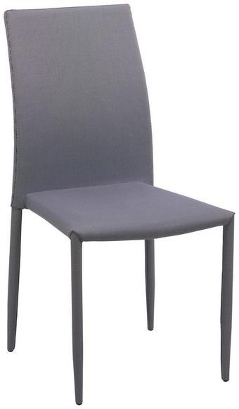STUHL in Textil Schwarz, Weiß - Schwarz/Weiß, Design, Textil/Metall (44/90/53cm) - CARRYHOME