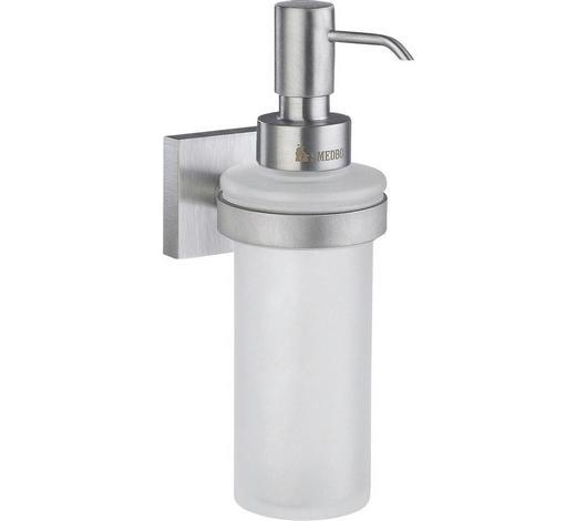 SEIFENSPENDER Metall, Glas - Chromfarben, Basics, Glas/Metall (18cm)