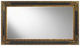 WANDSPIEGEL Schwarz, Goldfarben  - Goldfarben/Schwarz, LIFESTYLE, Glas/Holz (79,4/139,4/4,6cm) - Landscape