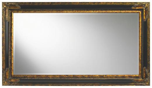 WANDSPIEGEL Goldfarben, Schwarz - Goldfarben/Schwarz, LIFESTYLE, Glas/Holz (79,4/139,4/4,6cm) - Landscape