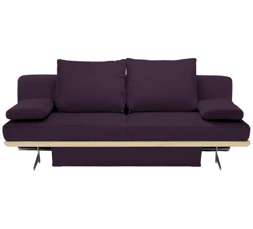 SCHLAFSOFA in Textil Violett - Chromfarben/Violett, Design, Textil/Metall (215/96/103cm) - Dieter Knoll