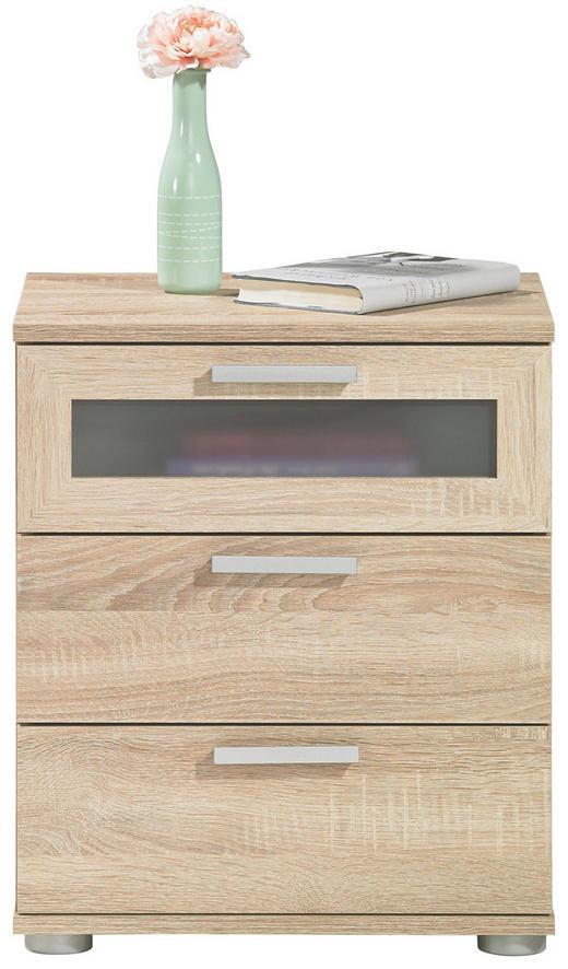 NACHTKÄSTCHEN Melamin Eichefarben - Eichefarben/Silberfarben, Design, Kunststoff (45/53,5/38cm) - Carryhome