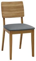 STUHL in Holz, Textil Eichefarben, Grau - Eichefarben/Grau, KONVENTIONELL, Holz/Textil (45/85/56cm) - Voleo