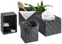 REGALKORB  - Grau, Basics, Textil/Metall - Landscape