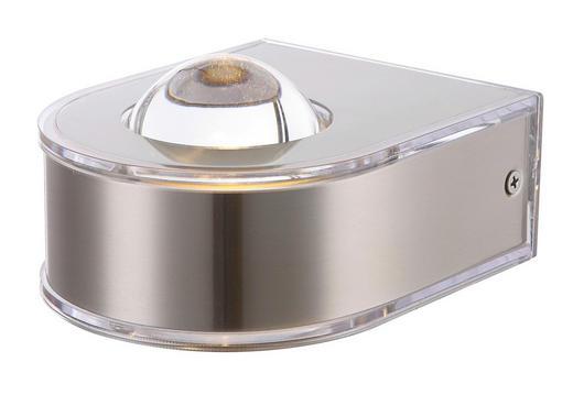 AUßENLEUCHTE Edelstahlfarben - Edelstahlfarben, Design, Glas/Metall (10,5/9cm)