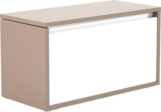GARDEROBENBANK Braun, Weiß - Braun/Weiß, Design, Glas (91/49/42cm) - Cassando