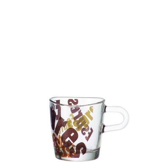 ESPRESSOGLAS - Transparent/Braun, Basics, Glas (8/6/5.5cm) - LEONARDO