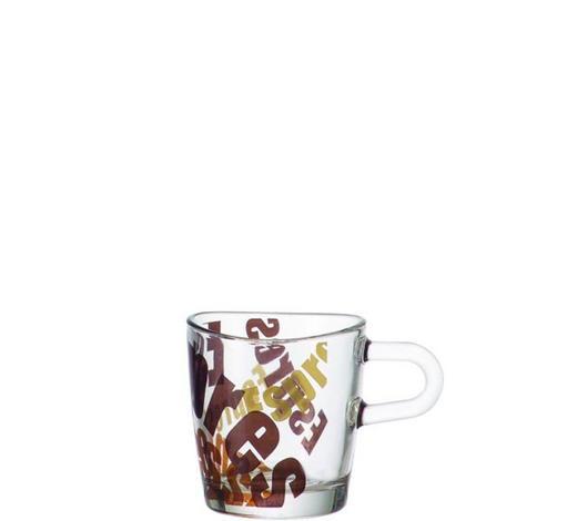 ESPRESSOGLAS - Transparent/Braun, KONVENTIONELL, Glas (0,1l) - Leonardo