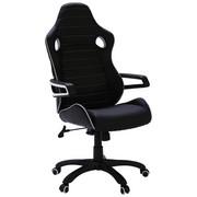 ŽIDLE GAMING - bílá/černá, Design, kov/textil (64/130/65cm) - Xora