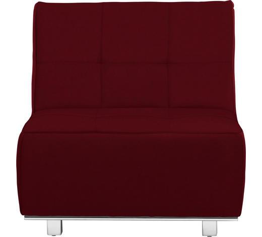 SCHLAFSESSEL in Textil Rot  - Chromfarben/Rot, Design, Textil/Metall (84/88/103cm) - Novel