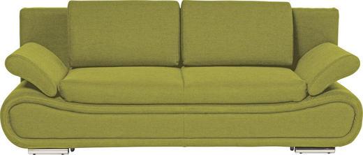 SCHLAFSOFA Grün - Chromfarben/Grün, Design, Textil/Metall (210/84/90cm) - NOVEL