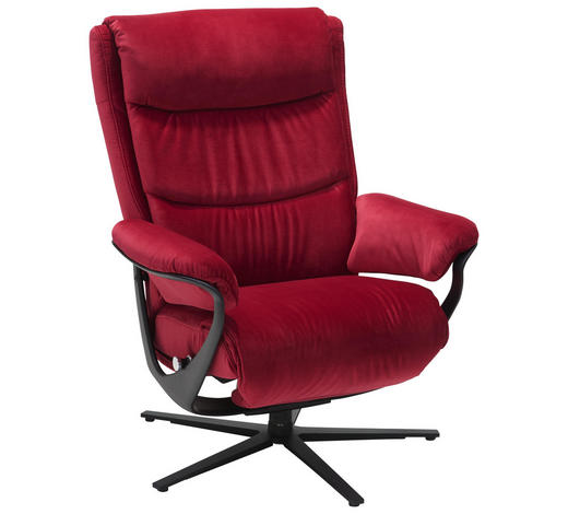 RELAXSESSEL in Textil Rot - Rot, Design, Textil/Metall (74/102/85cm) - Joop!