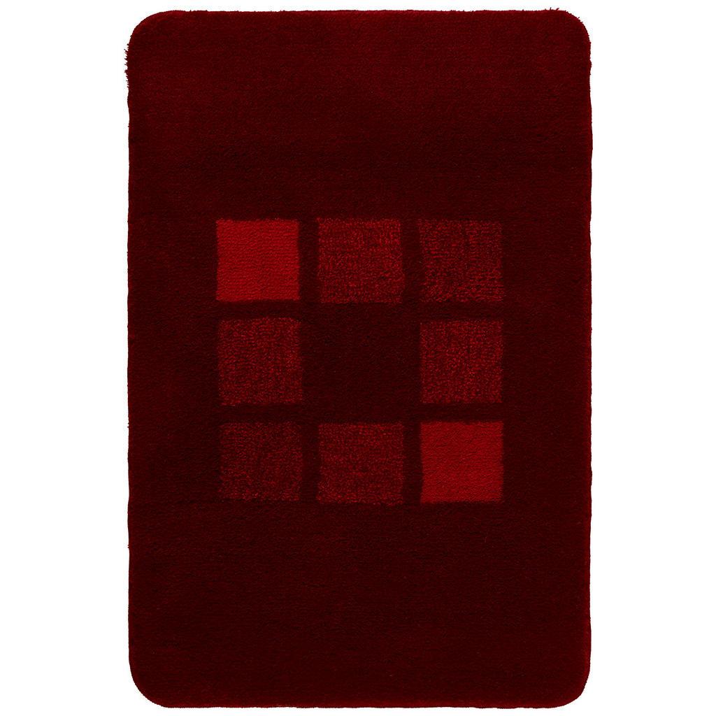 Kleine Wolke Badteppich in rot 70/120 cm