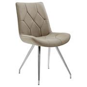 STOL - mullvadsfärgad/gråbrun/rostfritt stål-färgad, Design, metall/textil (51,5/89/65,5cm) - Novel
