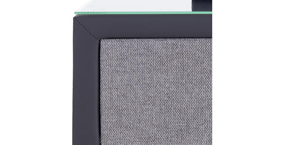 Nachtkästchen Grau H: 60 cm Hampton - Anthrazit/Grau, KONVENTIONELL, Textil (50/60/45cm) - Luca Bessoni