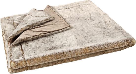 PÄLSPLÄD - brun, Basics, textil (150/200cm) - Ambiente