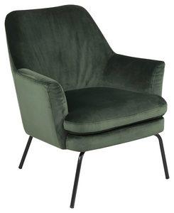 FÅTÖLJ - svart/mörkgrön, Trend, metall/textil (74/83/73cm) - Ambia Home