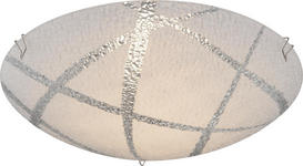 LED-DECKENLEUCHTE - Weiß, Basics, Glas/Metall (25/8cm) - Boxxx