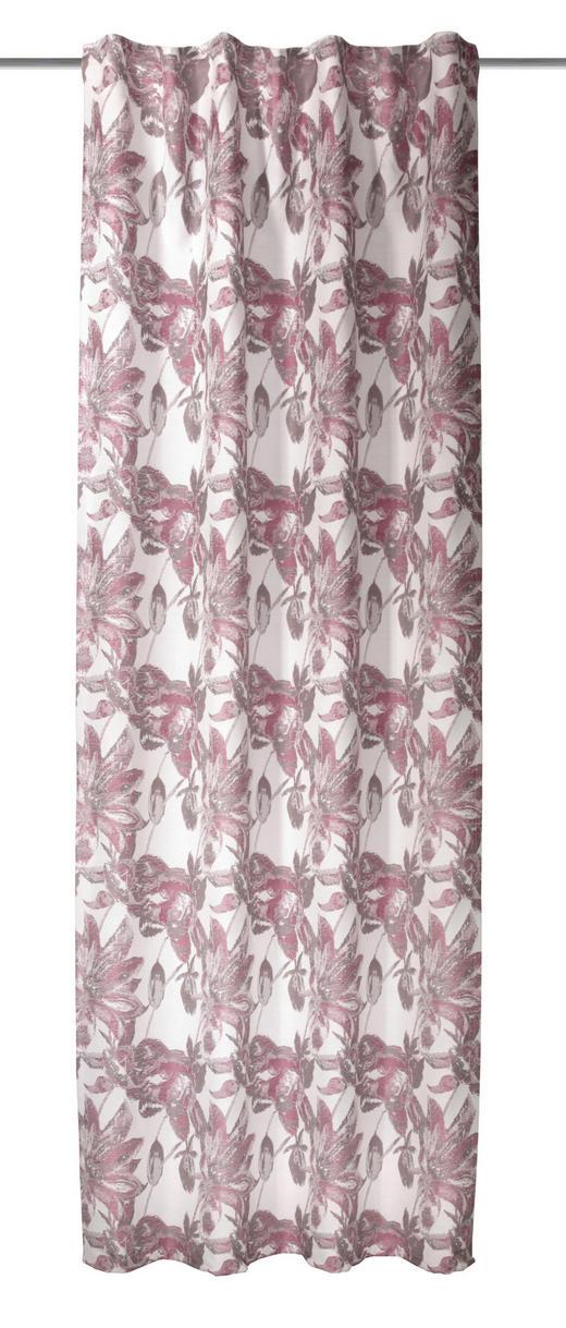 FERTIGVORHANG  blickdicht  135/245 cm - Rot, Textil (135/245cm)