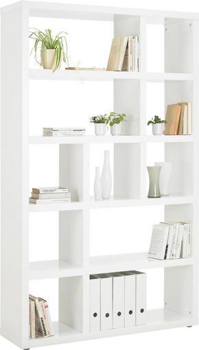 HYLLA - vit/alufärgad, Design, träbaserade material/plast (123/203/35cm)
