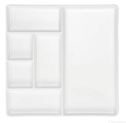 TELLER - Weiß, Design (25,5/25,5/2cm) - ASA