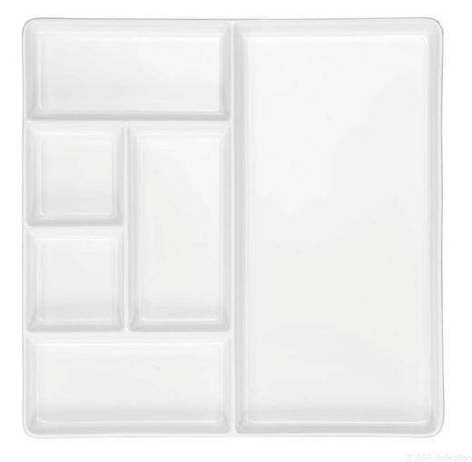 TELLER Keramik - Weiß, Design, Keramik (25,5/25,5/2cm) - ASA