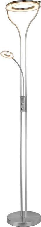 LED-STEHLEUCHTE - Nickelfarben, Design, Kunststoff/Metall (36/29/180cm) - Novel