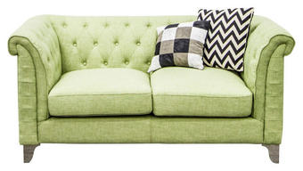 DVOSJED SOFA - svijetlo zelena/boje srebra, Design, metal/tekstil (167/79/86cm) - Hom`in