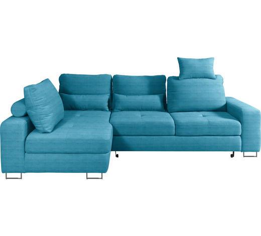 WOHNLANDSCHAFT in Textil Türkis - Türkis, Design, Textil/Metall (188/260cm) - Hom`in