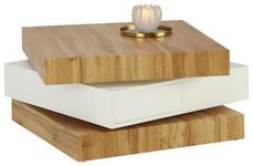 COUCHTISCH in Holzwerkstoff 70/70/38 cm   - Eichefarben/Weiß, Design, Holzwerkstoff (70/70/38cm) - Xora