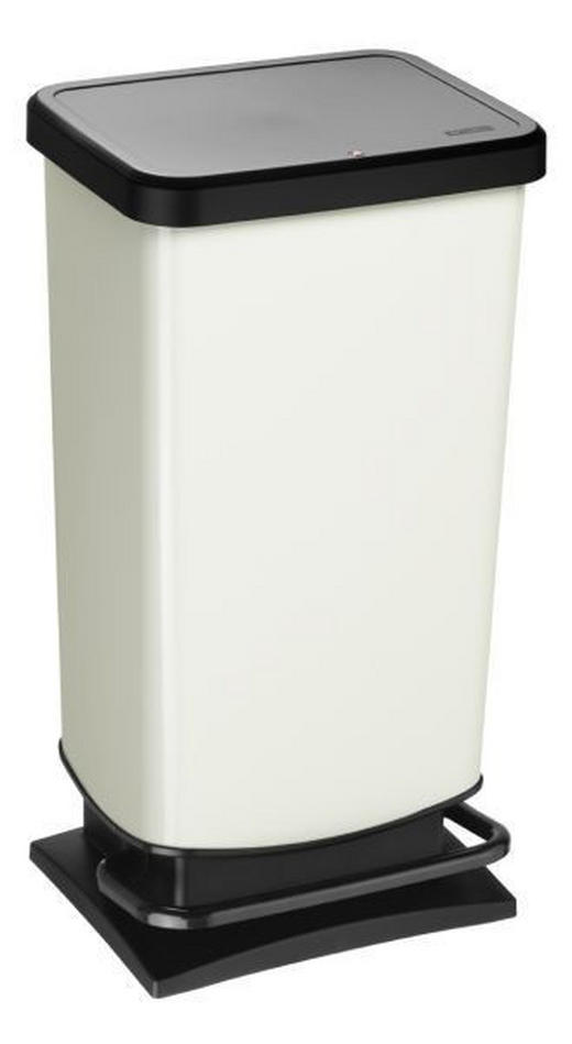 ABFALLEIMER 40 L - Champagner/Schwarz, Basics, Kunststoff (35,3/29,5/67,6cm)