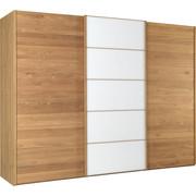 SKŘÍŇ S POSUVNÝMI DVEŘMI, částečně masivní, dub, barvy dubu, bílá - bílá/barvy dubu, Natur, dřevo/dřevěný materiál (300/217/67cm) - Linea Natura
