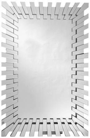 SPEGEL - silver, Design, glas/träbaserade material (80/120/3,9cm) - Xora