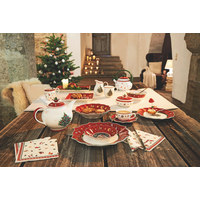 DESERTNI KROŽNIK TOY'S DELIGHT - rdeča/bela, Moderno, keramika (24cm) - Villeroy & Boch