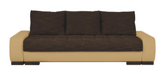 SCHLAFSOFA in Textil Naturfarben, Dunkelbraun  - Wengefarben/Dunkelbraun, Design, Holz/Textil (243/90/100cm) - Carryhome